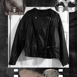 Jackets & Blazers - NWT Faux Leather Motorcycle Jacket Coat Sz XL
